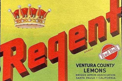 Regent Crate Label Briggs Lemon Ass'n