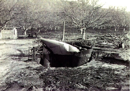 Rancho Sespe damaged tank.jpg