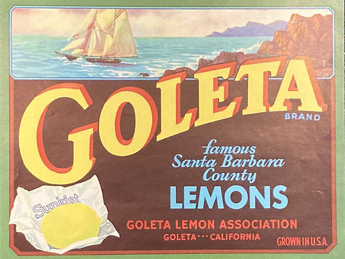 Goleta Crate Label, Goleta Lemon Association