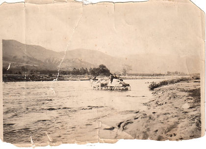 1905 or so  crossing the river the  hard