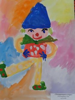 № 13 Танцующий Клоун. Аня Костарева, 4,5 года
