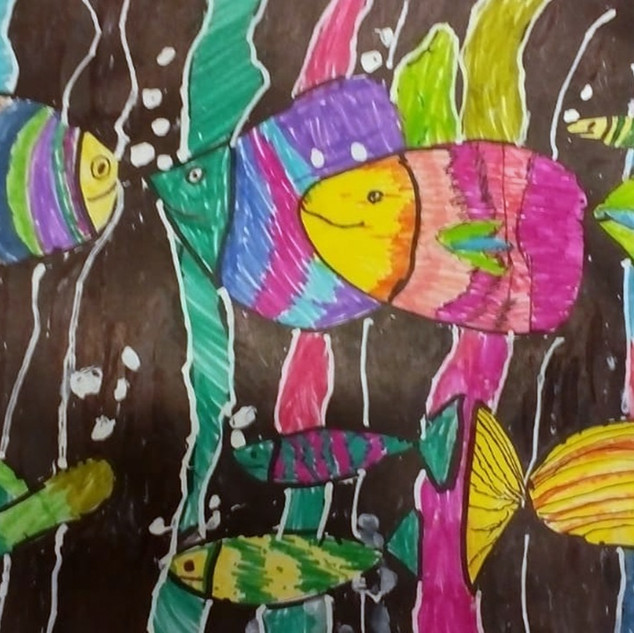 Косицына Карина, 7 лет. Рыбка, рыбка, гд