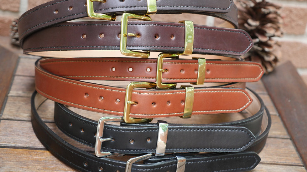 "Churchill ESB ""Extra Strong Belt"" English Bridle Leather Belts"
