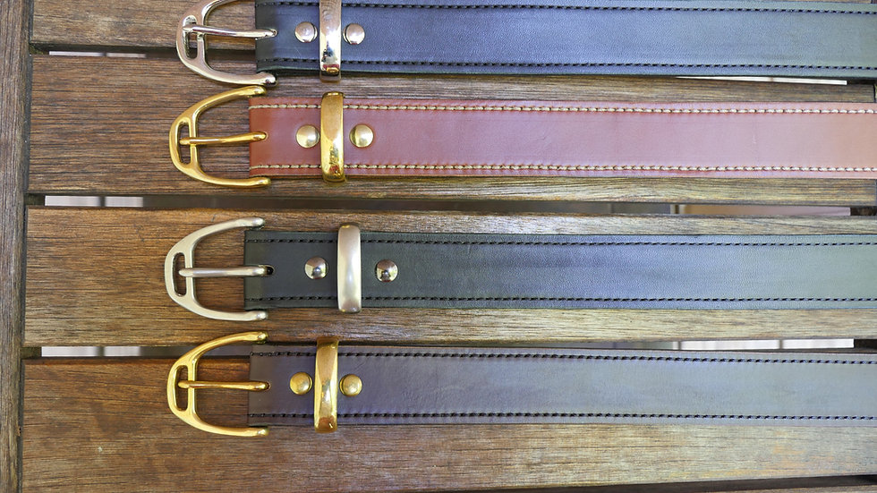 Churchill Saddle Stirrup Belt in English Bridle Leather