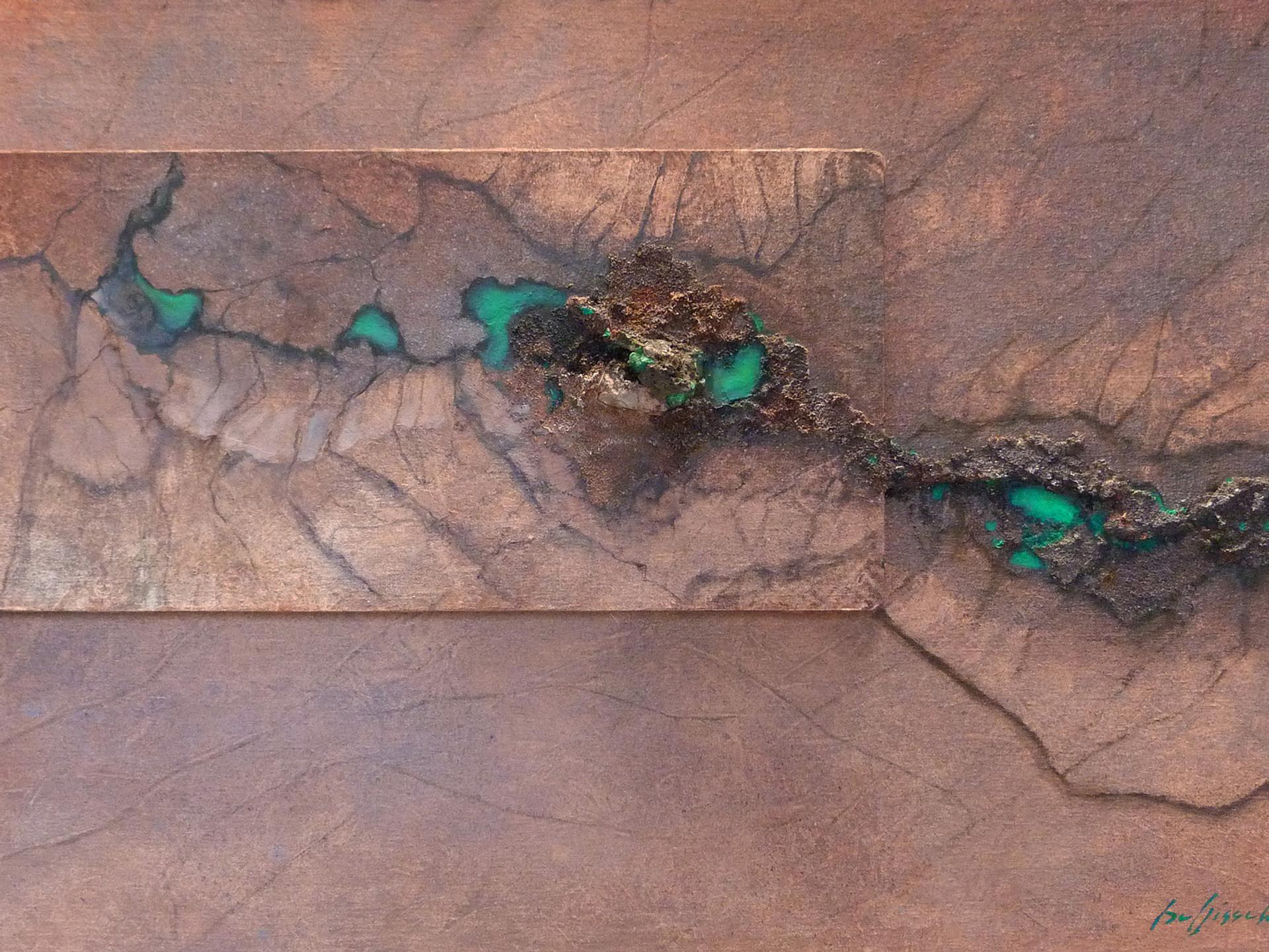 Reine du Shaba' MALACHITE(2) 100x60 cm (mineral - oilpainting - mixed media)