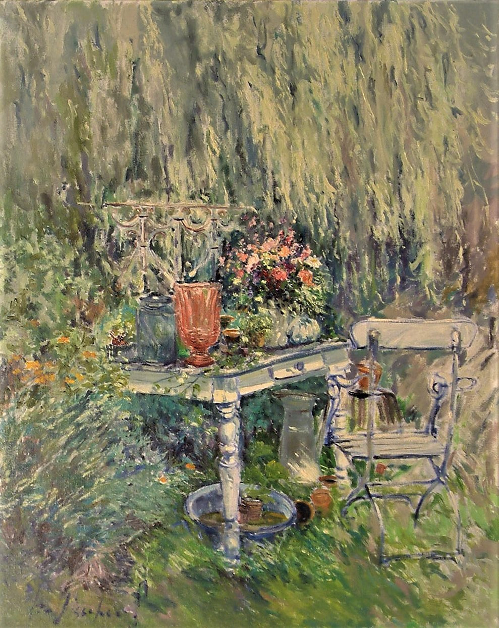 Romantiek in tuin d'Ost 80x100cm