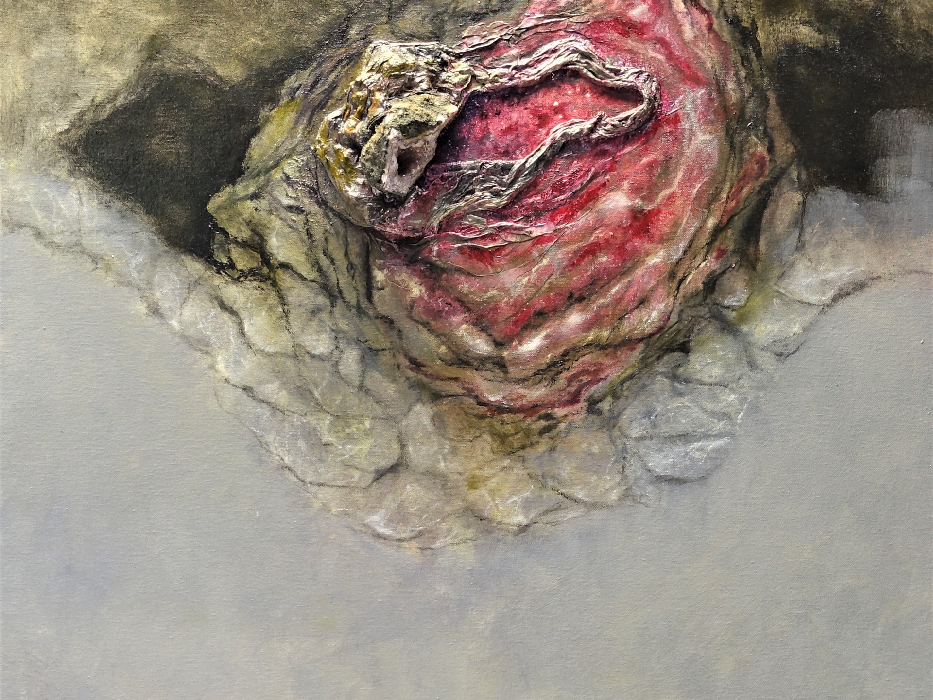 AMETHIST GEODE 80x80cm (mineral - oilpainting - mixed media)