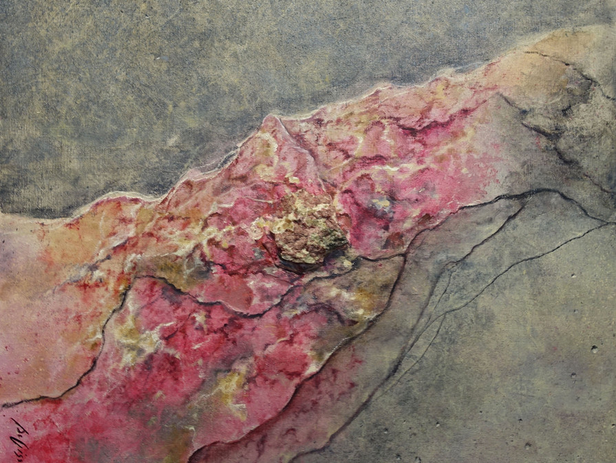 EUDIALIET 70x70 cm  (mineral - oilpainting - mixed media)