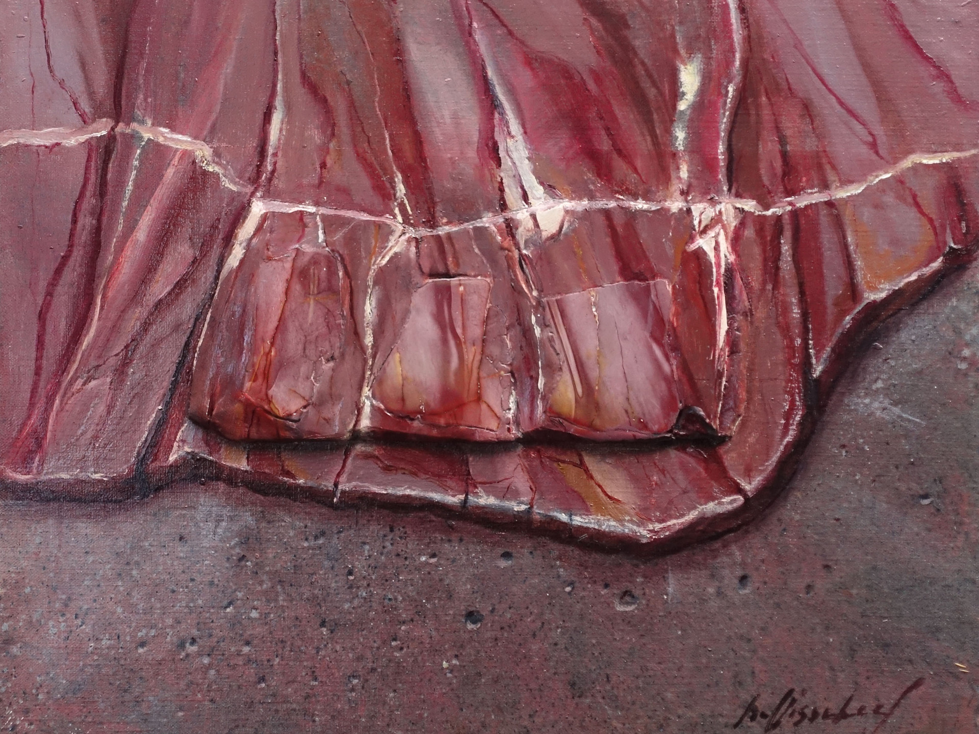 MOOKAIET 49x39 cm (mineral - oilpainting - mixed media)