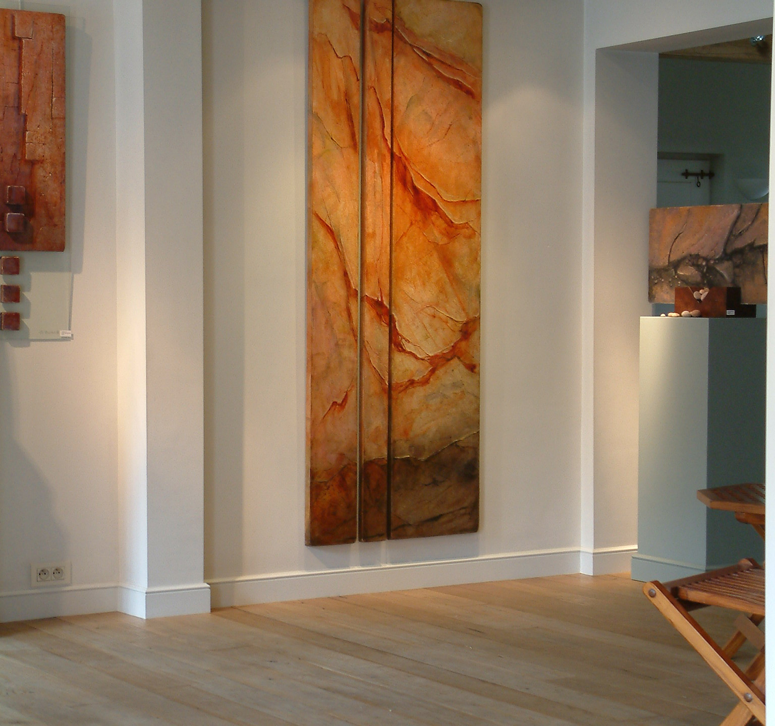 Fiery fraction 20-10-40x200cm (oilpainting -canvas on panels)
