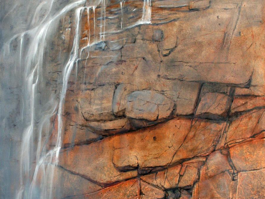 Waterval Zuid Afrika 100x120 cm