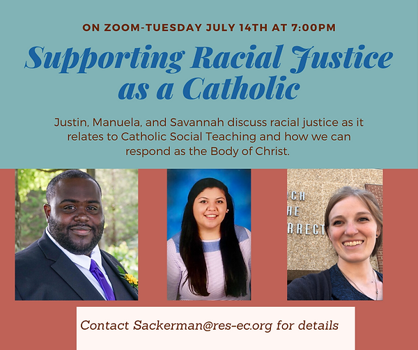 Supporting Racial Justice as a Catholic-