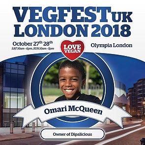 Omari McQueen will be speaking at _vegfe