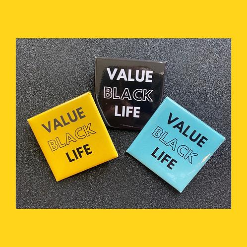 Value Black Life Button