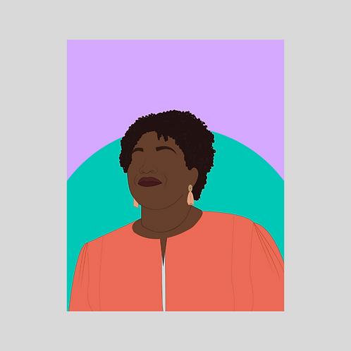 Stacey Abrams Art Print