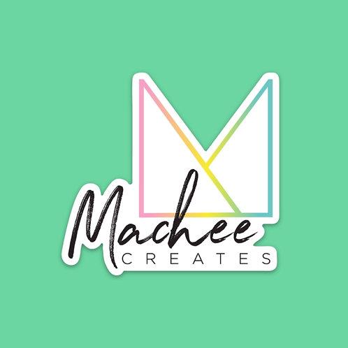 Machee Creates Logo Sticker