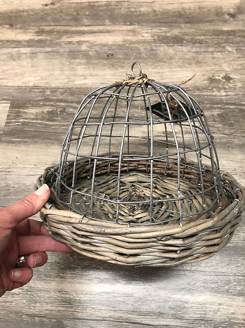 Wire Cloche with basket base