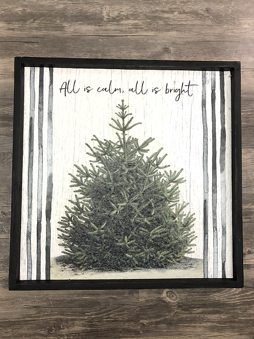 All is Calm, All is Bright Christmas Art