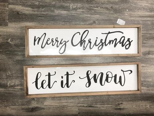 Metal framed Christmas Signs