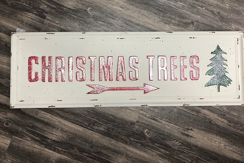 Metal Christmas Trees Sign