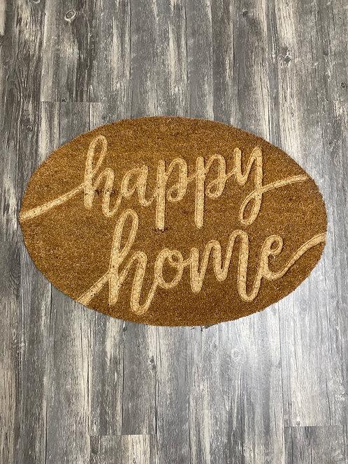"""""""Happy Home"""" doormat rug"""