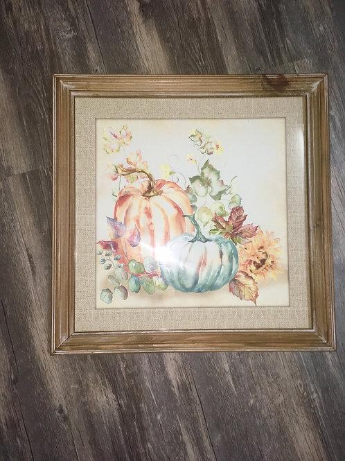 Framed pumpkin prints