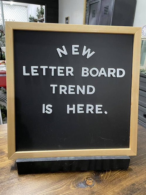 Magnetic Letterboard