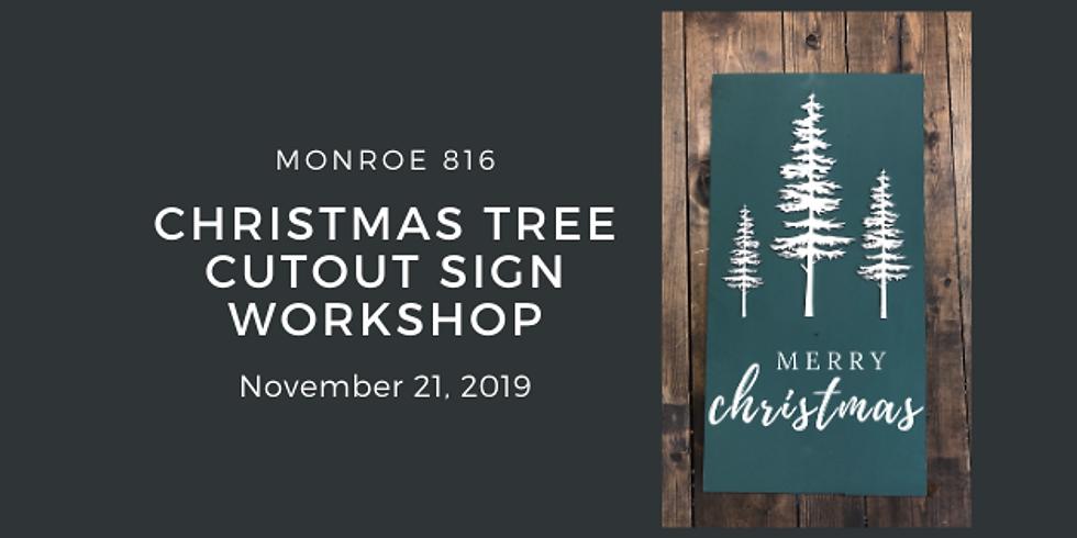 Christmas Tree Cutout Sign