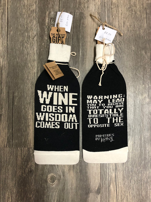 Two Sided Wine Bottle Socks