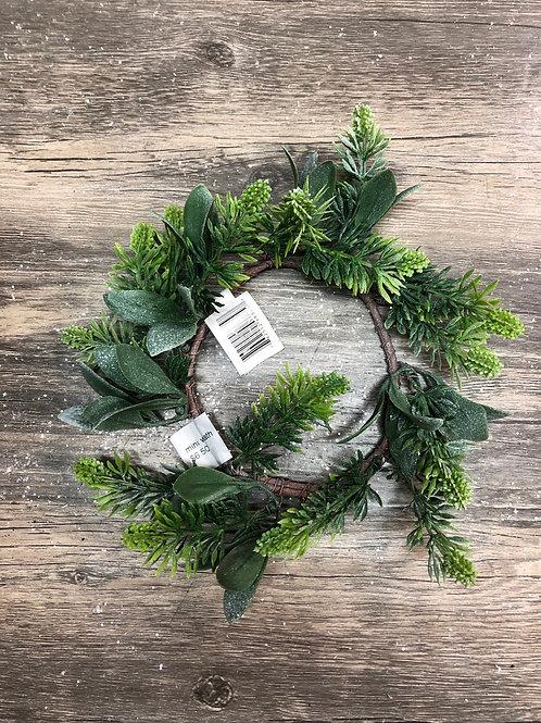 Laurel Candle Ring Mini Wreath