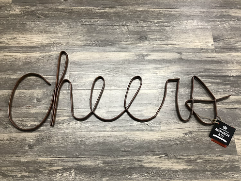 "Metal ""Cheers""' word sign"