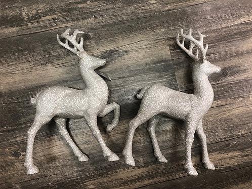 White Glitter Reindeer