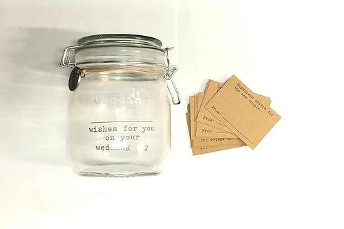 Wedding Day Wishes jar