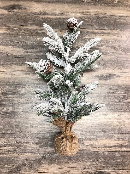 Snowy Christmas Tree w Pinecones