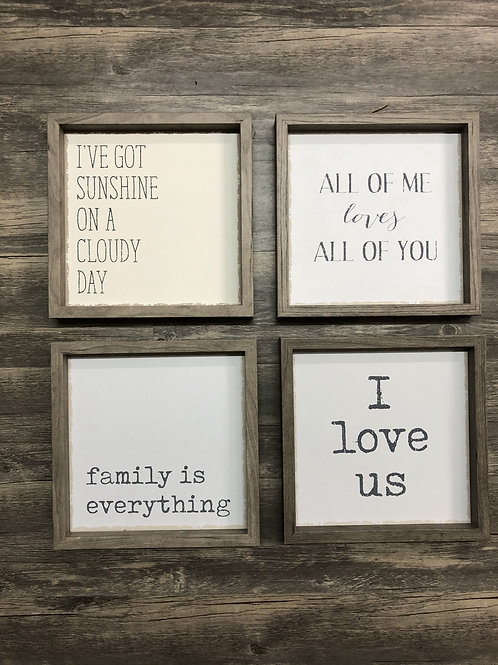 Gray Wood Frame Sign