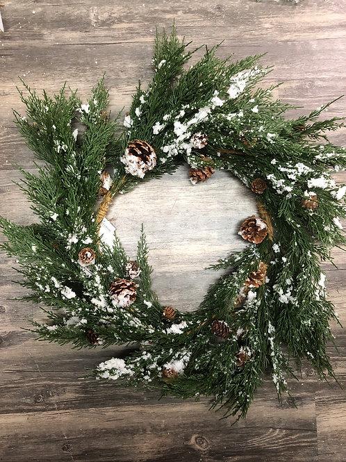 Cedar Snowy Wreath