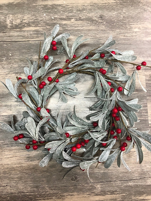 Mistletoe Christmas Wreath with red berries