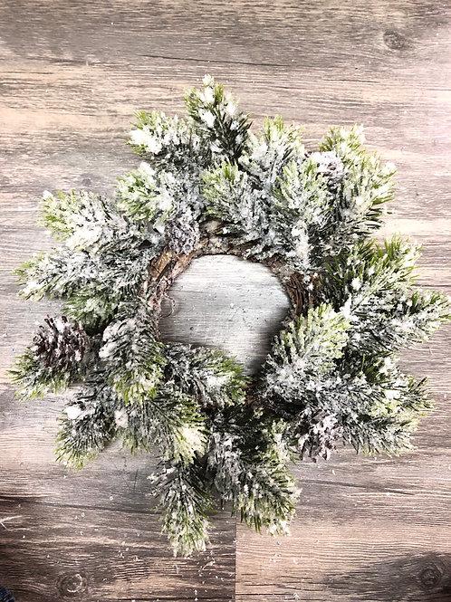 Snowy Candlering wreath