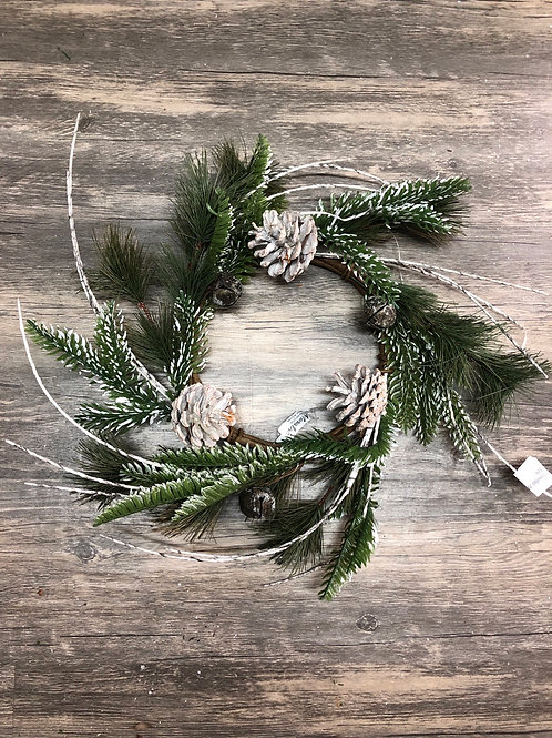 Pinecone & Bell Christmas Wreath