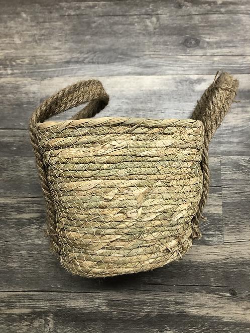 Sea grass basket w handles