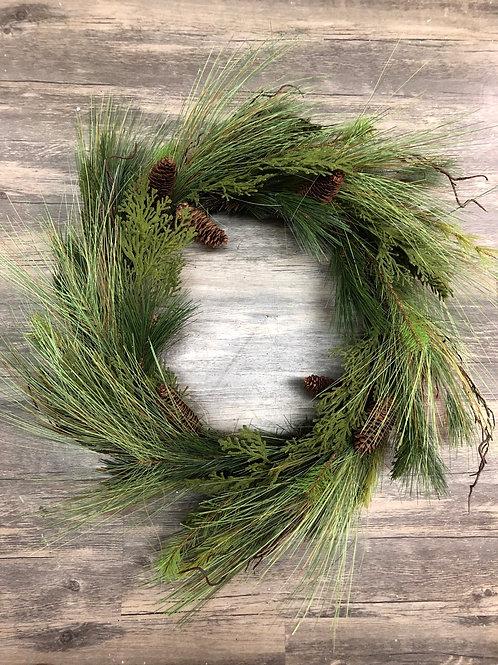 Long Pine Needle Christmas Wreath