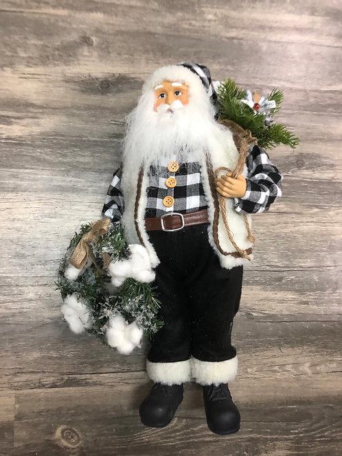 Santa in Buffalo Check Flannel