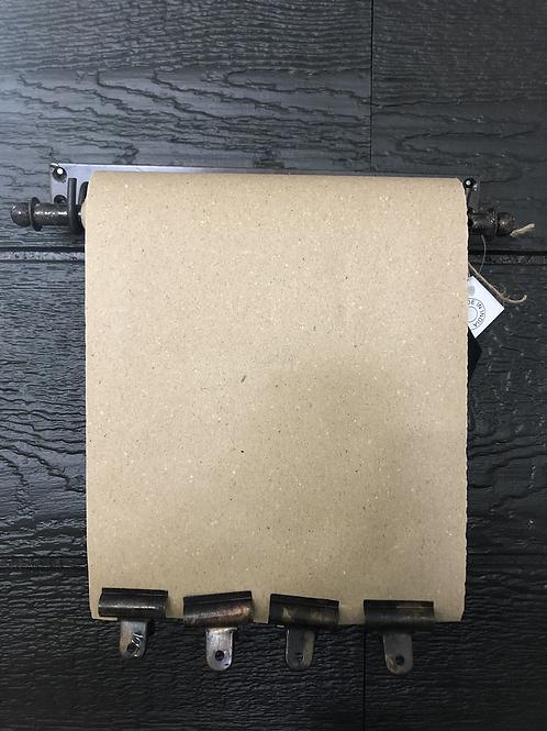 Butcher paper roll on metal bracket