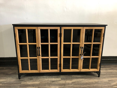 Metal and Wood Console Cabinet