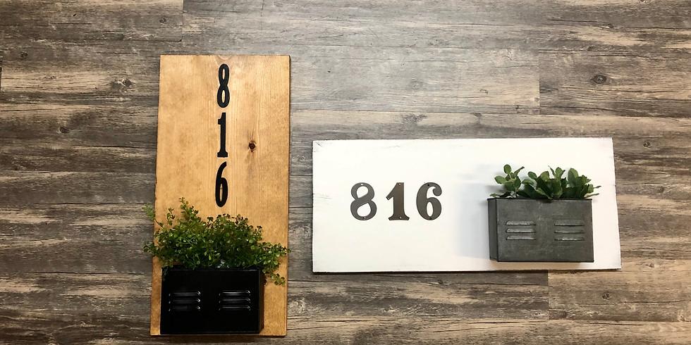 House Number Sign Workshop