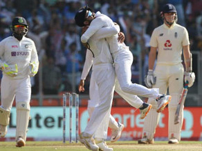 England left in a spin by Axar Patel & India
