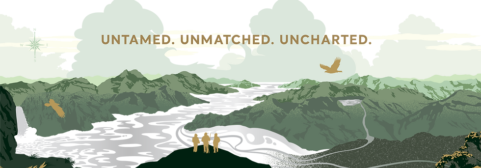 Marlborough-inspired label image for Uncharted wines