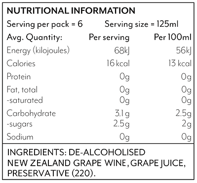 0% Rosé Nutritional Chart.png