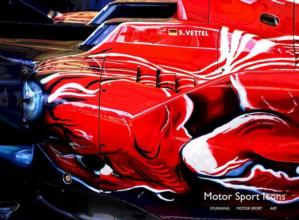 Sebastian Vettel 2008 Scuderia Toro Rosso STR3 original art print on aluminium