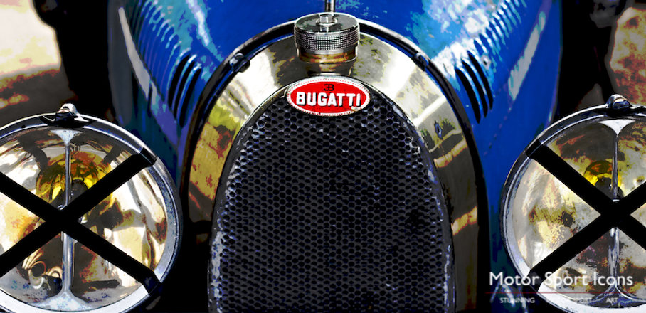Bugatti Type 35 original art print on aluminium